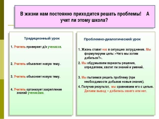 Традиционный урок 1. Учитель проверяет д/з учеников. 2. Учитель объявляет но...