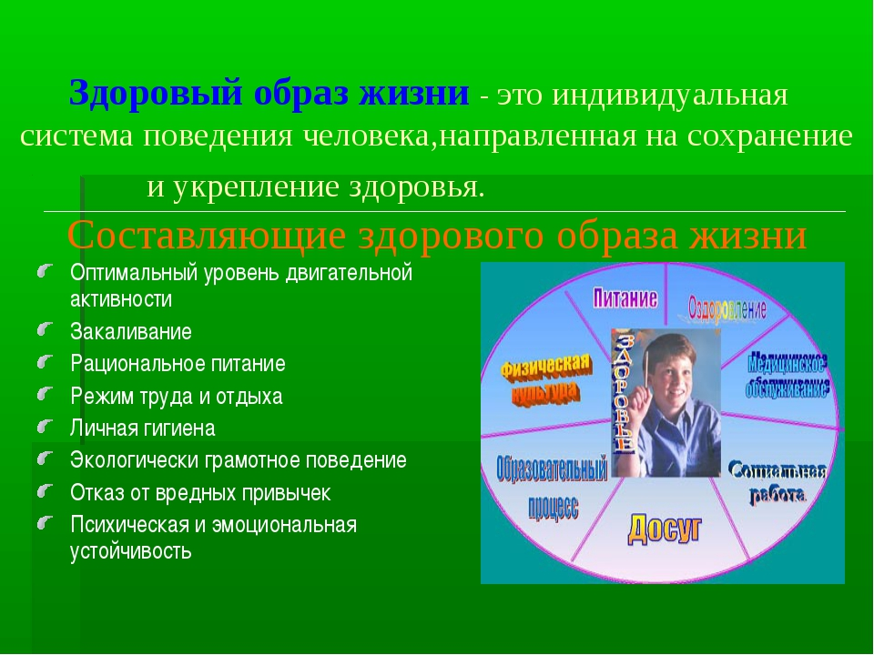 10 слайд Здоровый образ жизни - это индивидуальная система поведения  человека,направле 54204e368c4