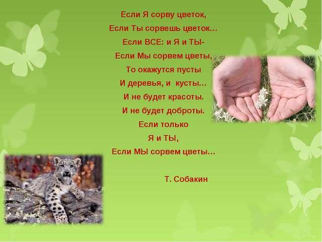 Если Я сорву цветок, Если Ты сорвешь цветок… Если ВСЕ: и Я и ТЫ- Если Мы сорв...