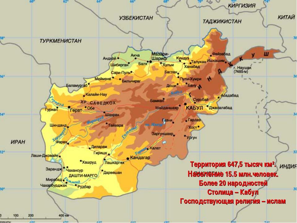 Территория 647,5 тысяч км2. Население 15.5 млн.человек. Более 20 народностей...