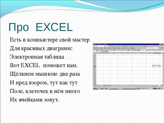 Про EXCEL Есть в компьютере свой мастер Для красивых диаграмм: Электронная та...