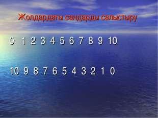 Жолдардағы сандарды салыстыру 0   1  2  3  4  5  6  7  8  9  10 10  9  8  7