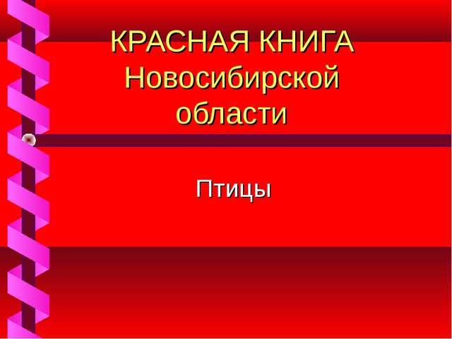КРАСНАЯ КНИГА Новосибирской области Птицы