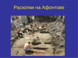 Раскопки на Афонтове