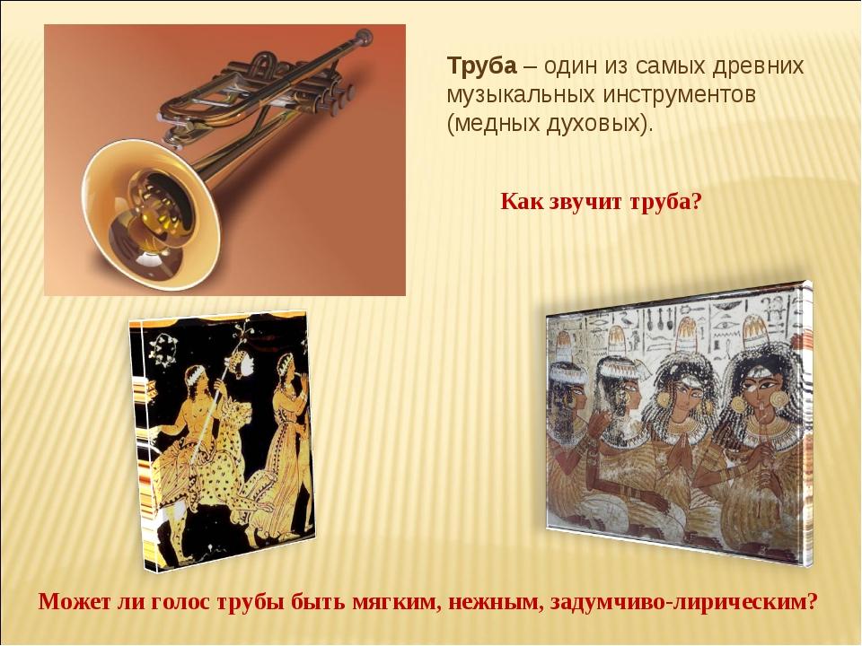Труба – один из самых древних музыкальных инструментов (медных духовых). Как...