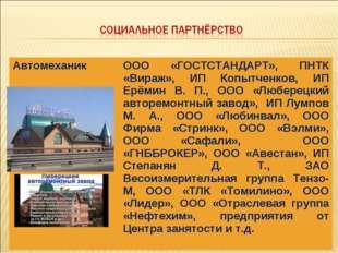 АвтомеханикООО «ГОСТСТАНДАРТ», ПНТК «Вираж», ИП Копытченков, ИП Ерёмин В. П.
