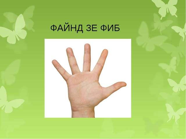 ФАЙНД ЗЕ ФИБ
