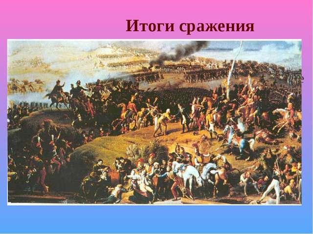 Итоги сражения Каждая сторона считает себя победителем и празднует годовщину...