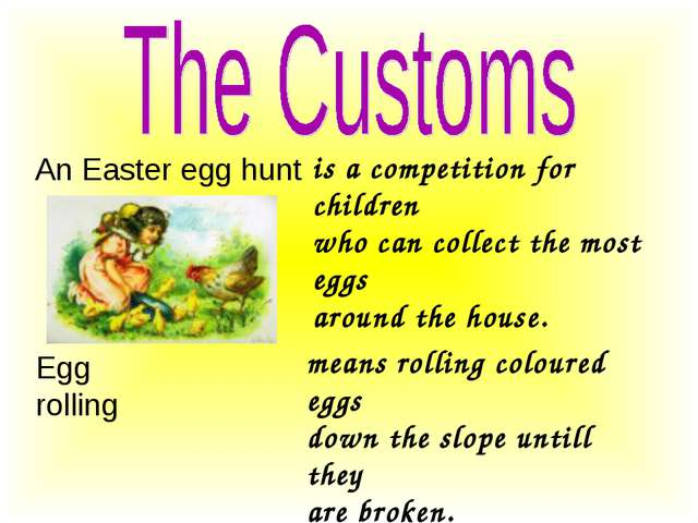 An Easter egg hunt is a competition for children who can collect the most egg...