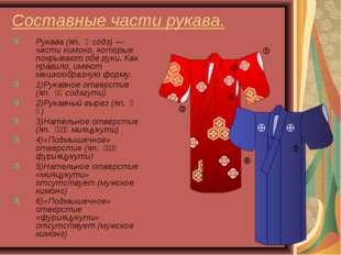 Составные части рукава. Рукава (яп. 袖 содэ)— части кимоно, которые покрываю