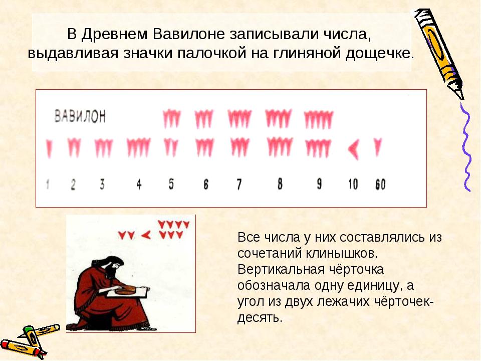 Все числа у них составлялись из сочетаний клинышков. Вертикальная чёрточка об...