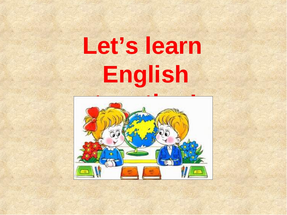 Let's learn English together!