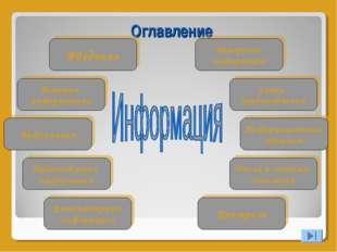 Оглавление Введение История информатики Информация Представление информации К