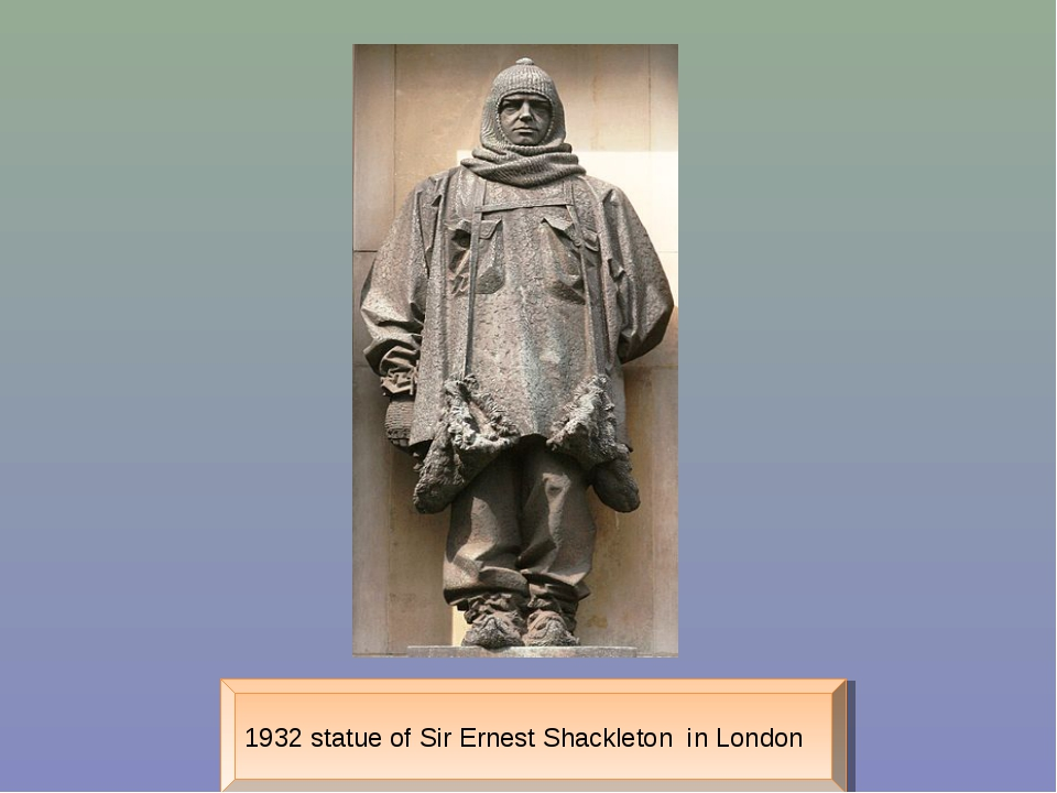 1932 statue of Sir Ernest Shackleton in London