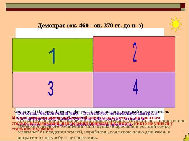 Банкнота100 драхм, Греция. философ, материалист, главный представитель атом...