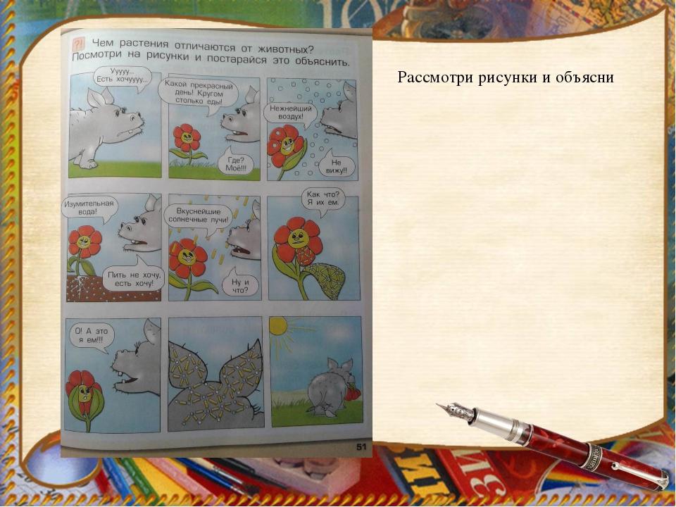 Рассмотри рисунки и объясни