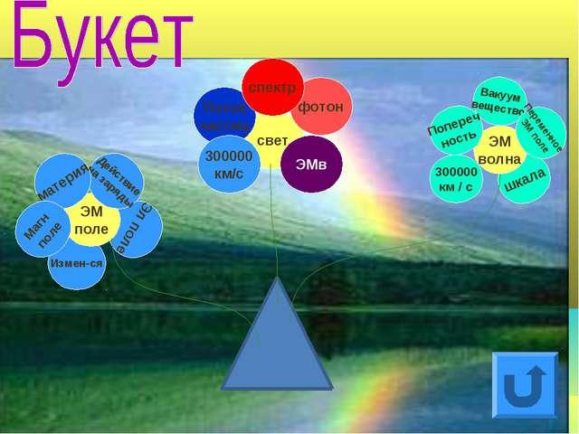 Измен-ся Эл поле 300000 км / с шкала свет ЭМ поле ЭМ волна Поток частиц 30000...