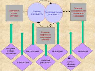 Учебная деятельность Исследовательская деятельность Повышение уровня обучения