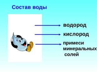 Состав воды водород кислород примеси минеральных солей
