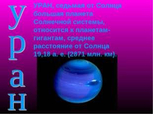 УРАН, седьмая от Солнца большая планета Солнечной системы, относится к планет