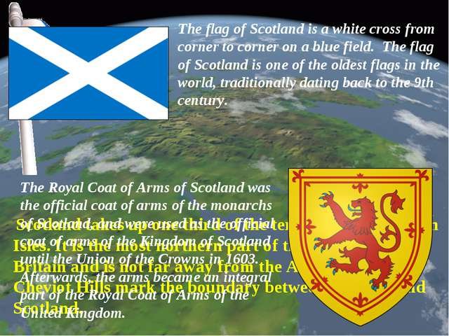 Scotland takes up one third of the territory of the British Isles. It is the...