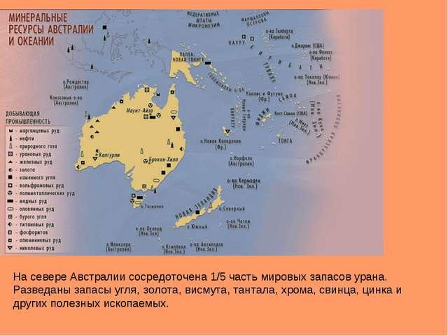 На севере Австралии сосредоточена 1/5 часть мировых запасов урана. Разведаны...