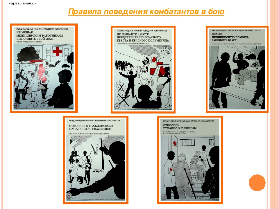 «право войны» Правила поведения комбатантов в бою
