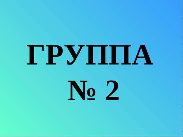 ГРУППА № 2