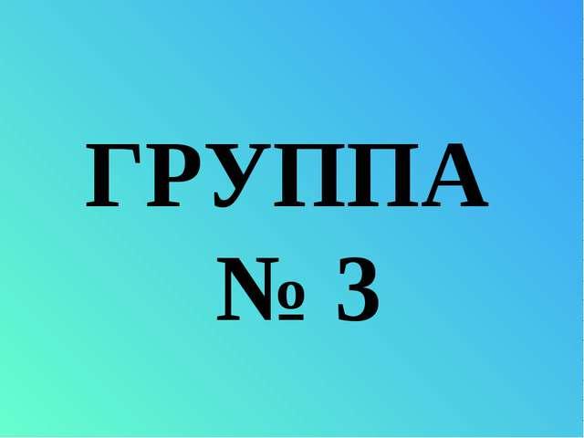 ГРУППА № 3