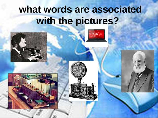 what words are associated with the pictures?