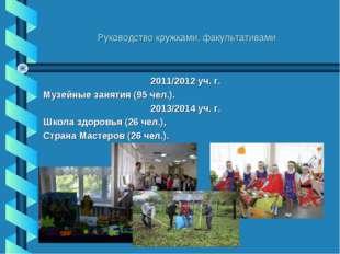 Руководство кружками, факультативами 2011/2012 уч. г. Музейные занятия (95 че