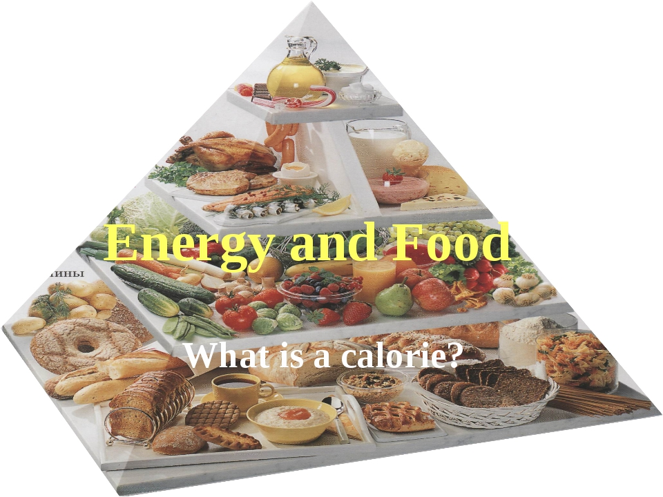 What is a calorie? Energy and Food