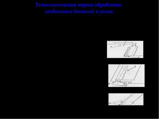 Технологическая карта обработки отдельных деталей и узлов При обработке отдел...