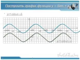 Построить график функции y = Sinx + a y = sin x - 1 π π/2 -π/2 2π -π -3π/2 3π