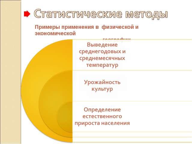 Примеры применения в физической и экономической географии