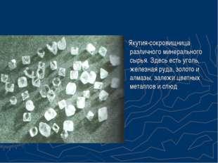 Якутия-сокровищница различного минерального сырья. Здесь есть уголь, железна