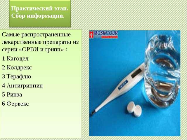 Самые распространенные лекарственные препараты из серии «ОРВИ и грипп» : 1 Ка...
