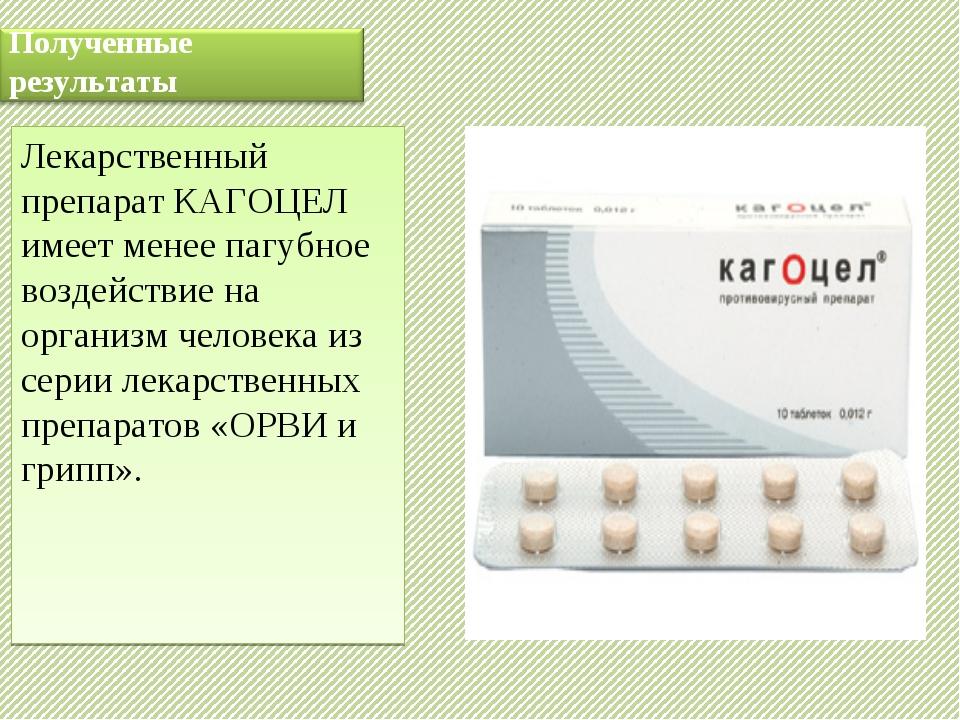 Лекарственный препарат КАГОЦЕЛ имеет менее пагубное воздействие на организм ч...