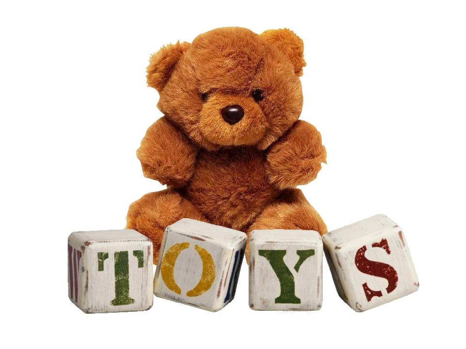 Фото с надписью игрушки