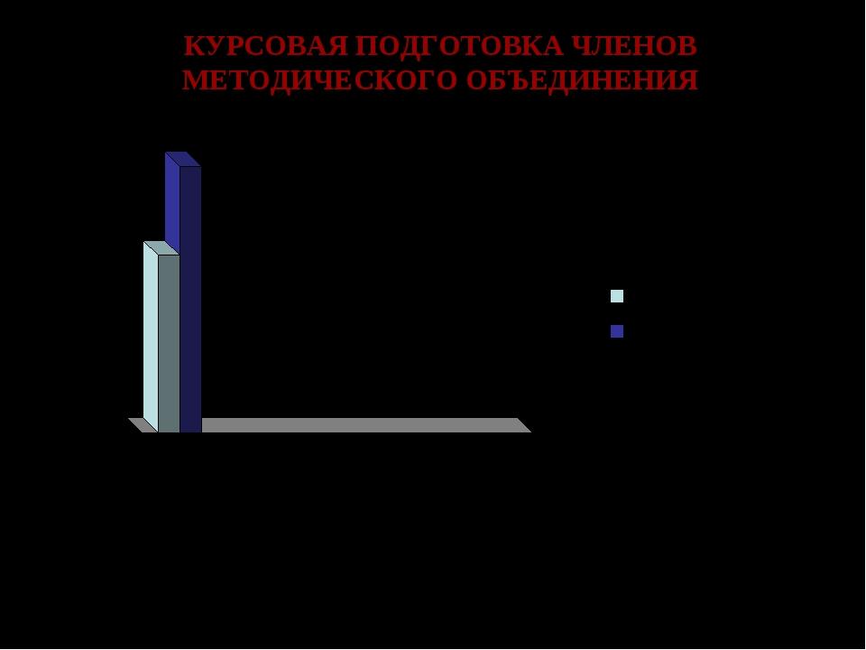 КУРСОВАЯ ПОДГОТОВКА ЧЛЕНОВ МЕТОДИЧЕСКОГО ОБЪЕДИНЕНИЯ