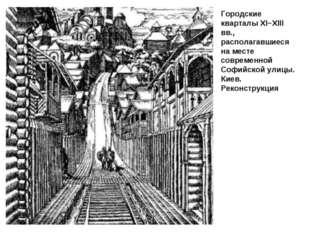 Городские кварталы ХІ−ХІІІ вв., располагавшиеся на месте современной Софийско