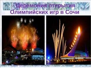 Церемония открытия Олимпийских игр в Сочи * *