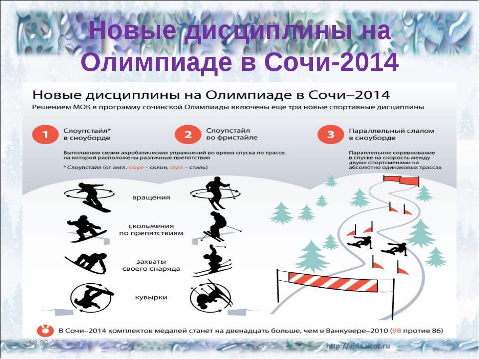 Новые дисциплины на Олимпиаде в Сочи-2014 * *