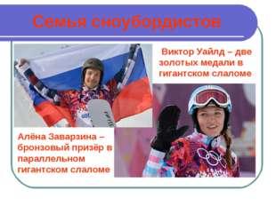 Семья сноубордистов Виктор Уайлд – две золотых медали в гигантском слаломе Ал