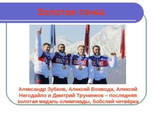 Золотая точка Александр Зубков, Алексей Воевода, Алексей Негодайло и Дмитрий