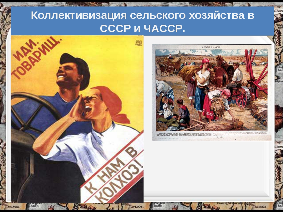 Коллективизация сельского хозяйства в СССР и ЧАССР.