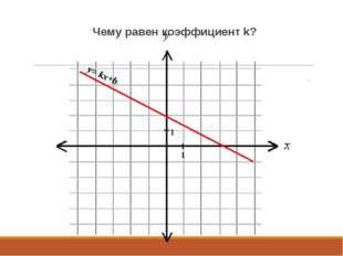 Чему равен коэффициент k? y= kx+b