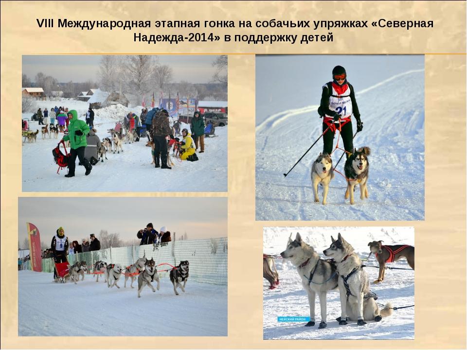 VIII Международная этапная гонка на собачьих упряжках «Северная Надежда-2014»...