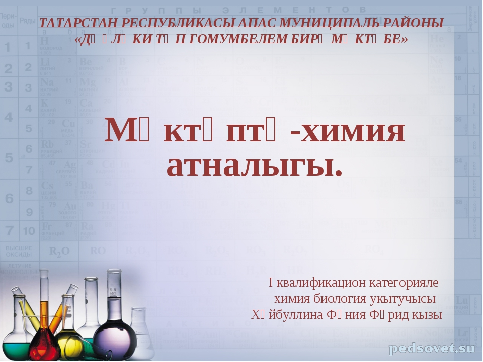 Мәктәптә-химия атналыгы. I квалификацион категорияле химия биология укытучыс...