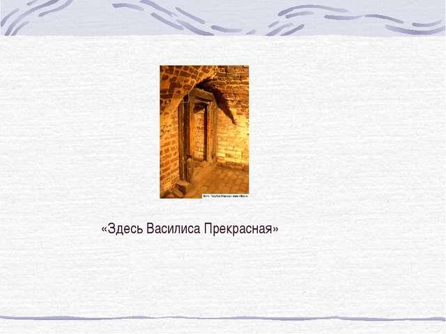 «Здесь Василиса Прекрасная»